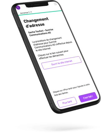 iphone - application - changement d'adresse - plan your move