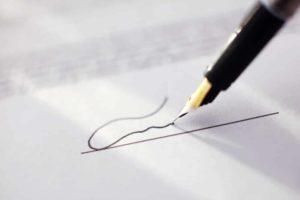 signature text